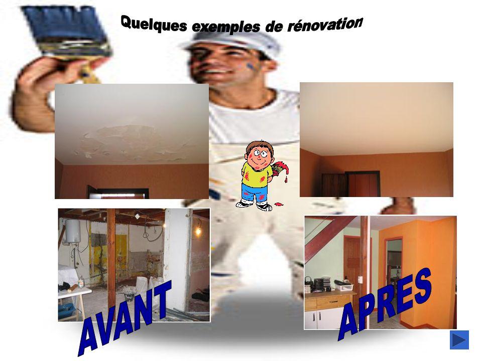 Quelques exemples de rénovation