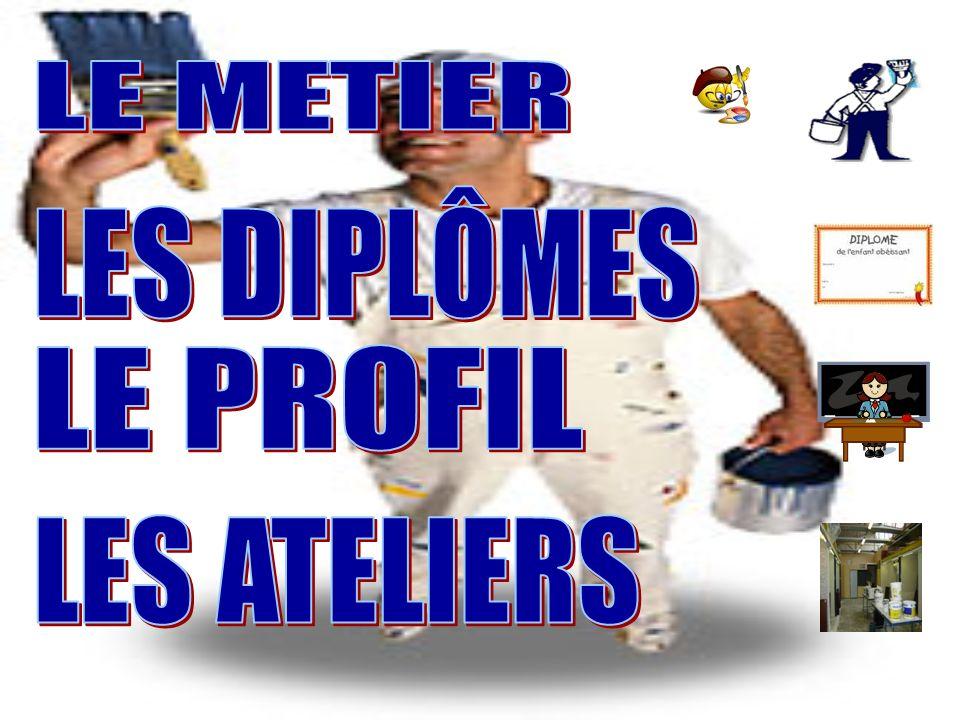 sommaire LE METIER LES DIPLÔMES LE PROFIL LES ATELIERS