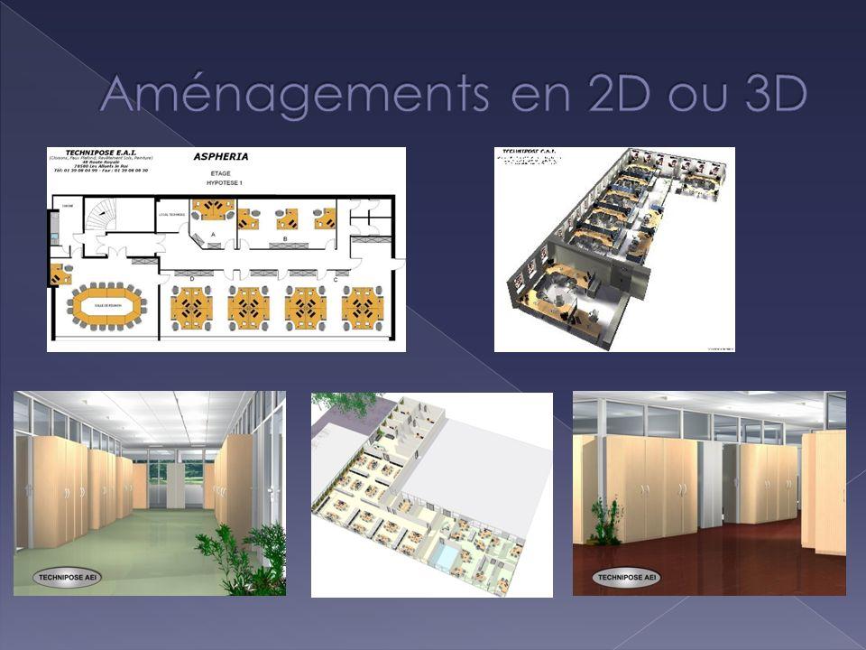 Aménagements en 2D ou 3D 2d3d