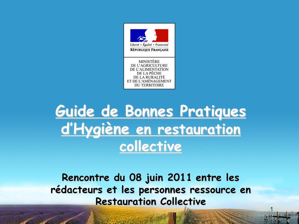 Guide de bonnes pratiques d hygi ne en restauration for Agent en restauration collective