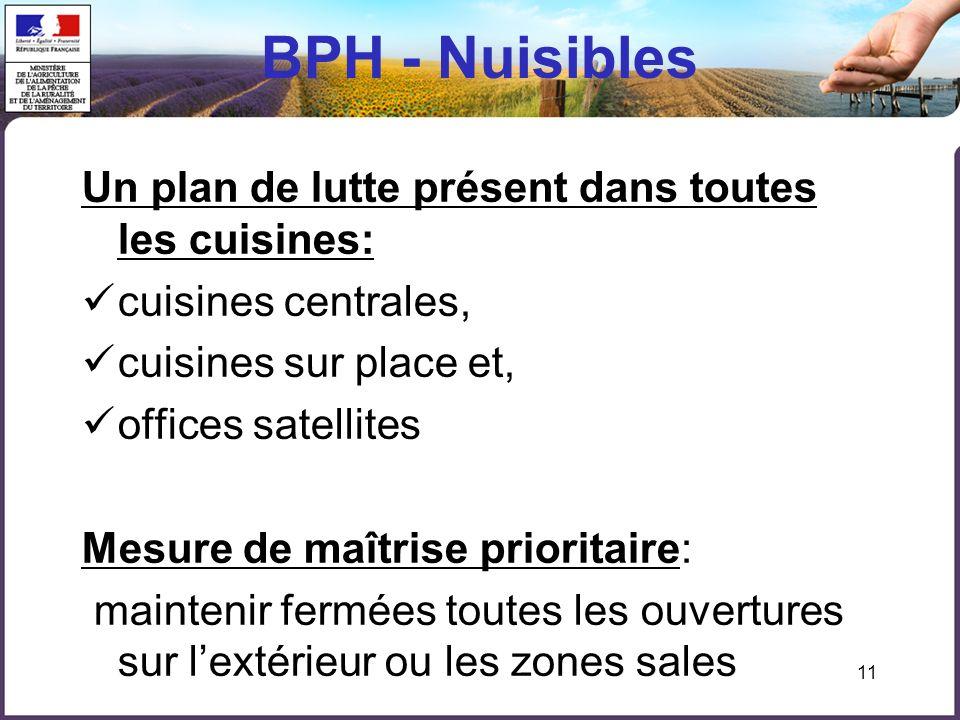 BPH - Nuisibles Un plan de lutte présent dans toutes les cuisines:
