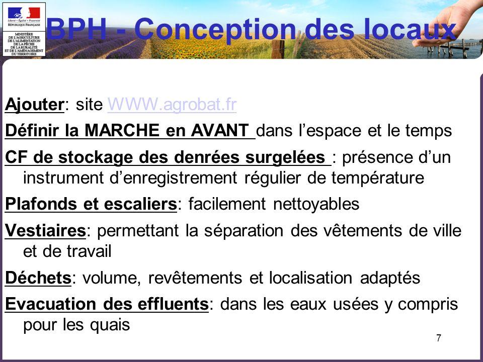 BPH - Conception des locaux