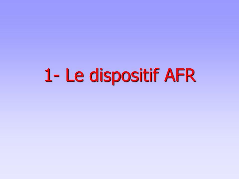 1- Le dispositif AFR