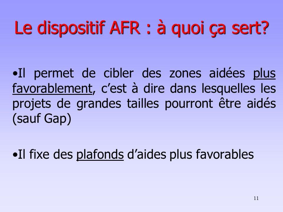 Le dispositif AFR : à quoi ça sert