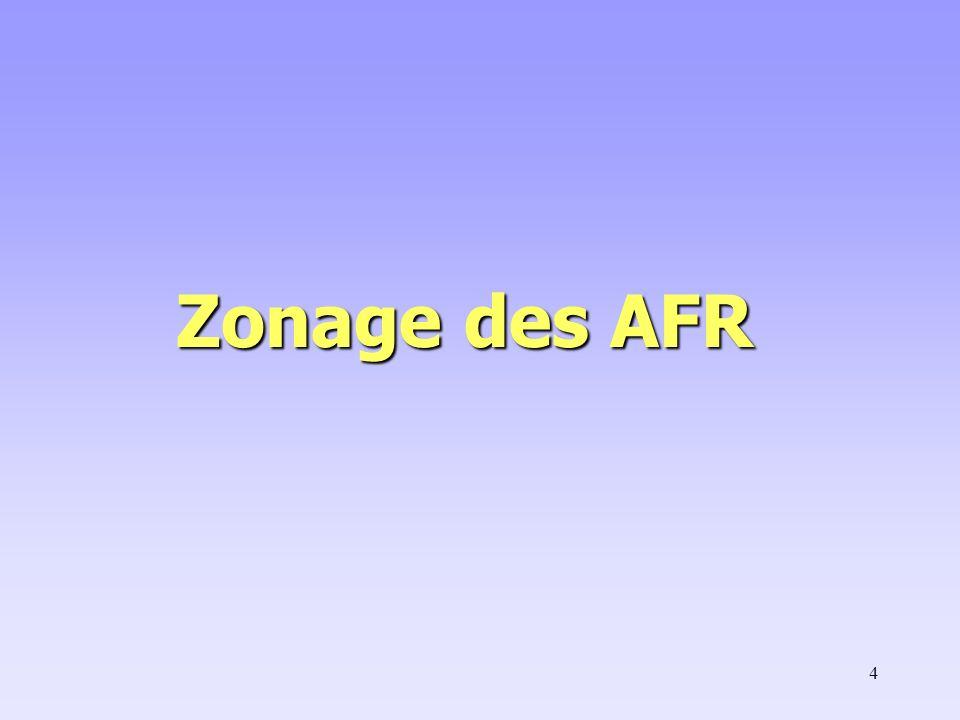 Zonage des AFR