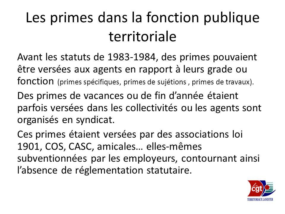 Les primes dans la fonction publique territoriale