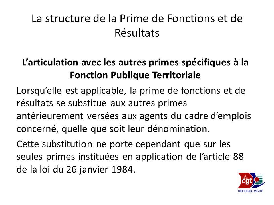 La structure de la Prime de Fonctions et de Résultats
