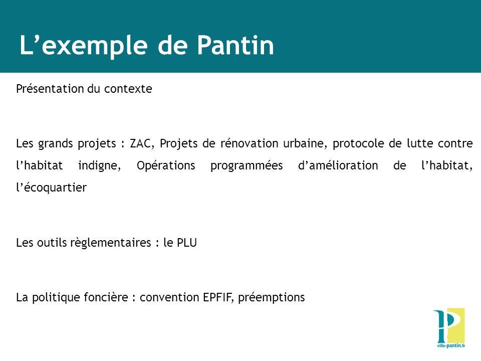 L'exemple de Pantin Présentation du contexte