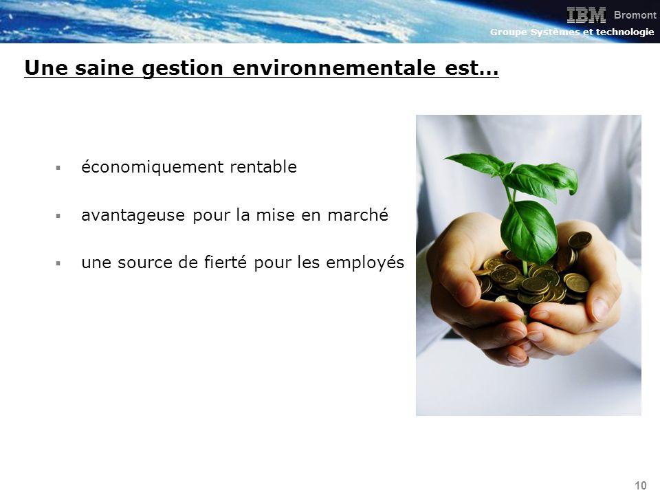 Une saine gestion environnementale est…