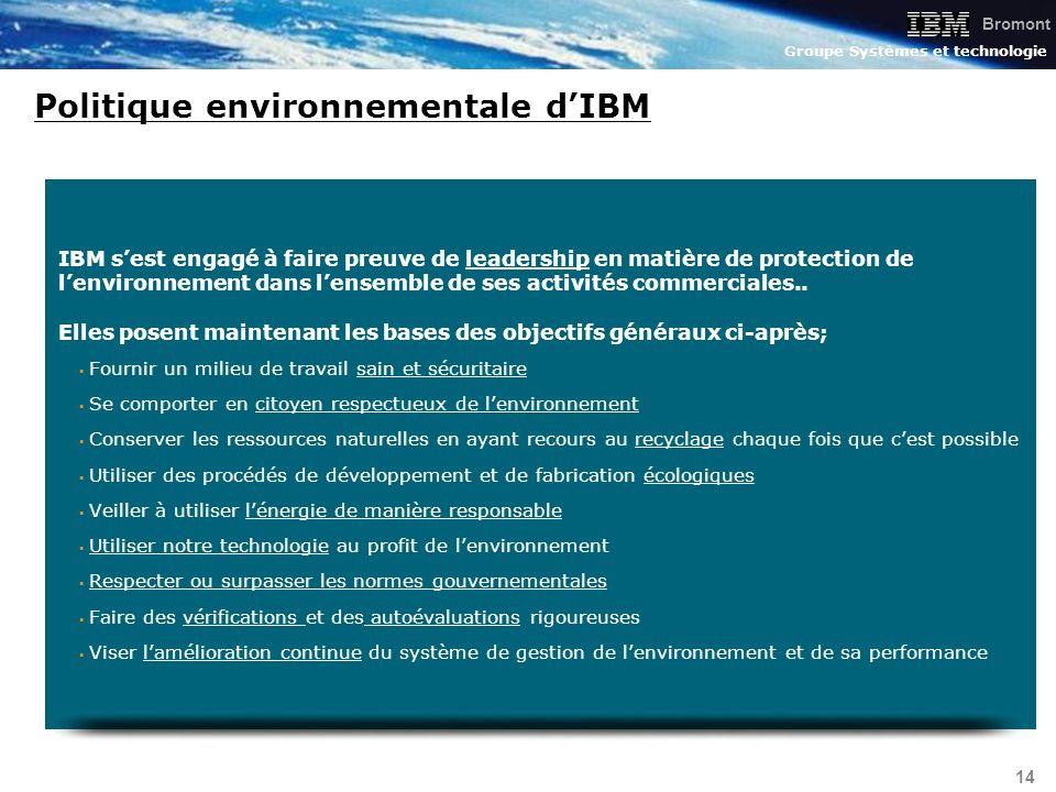 Politique environnementale d'IBM