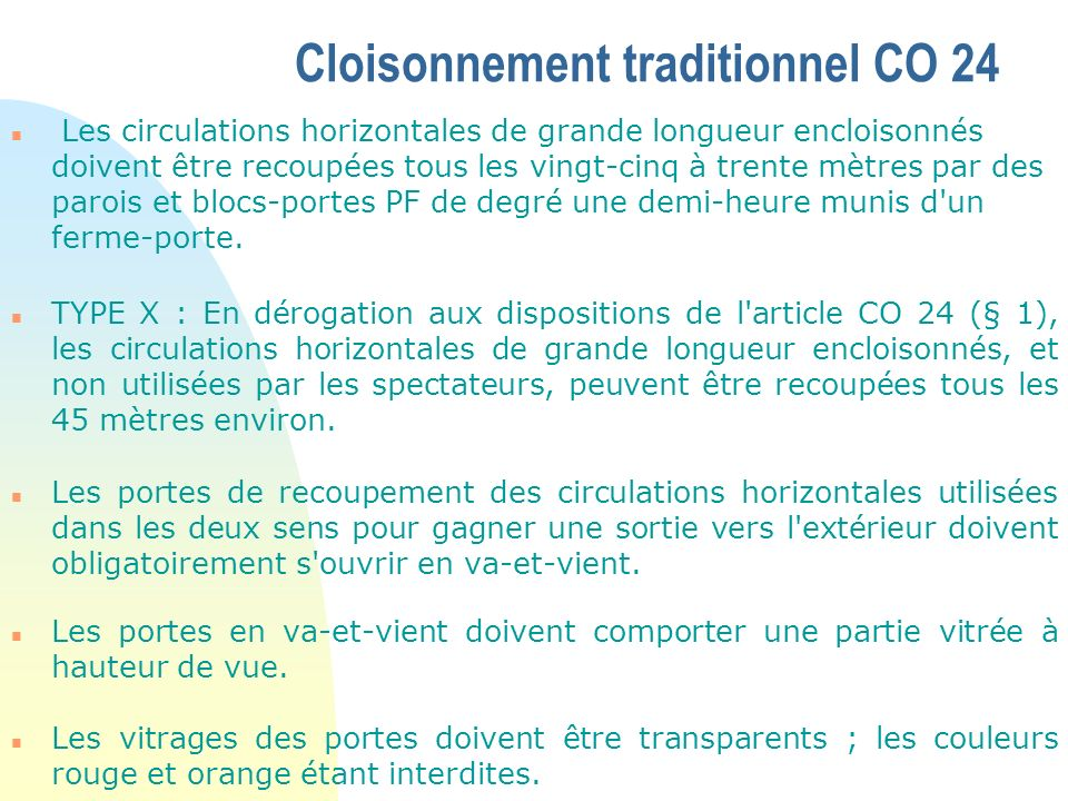Cloisonnement traditionnel CO 24