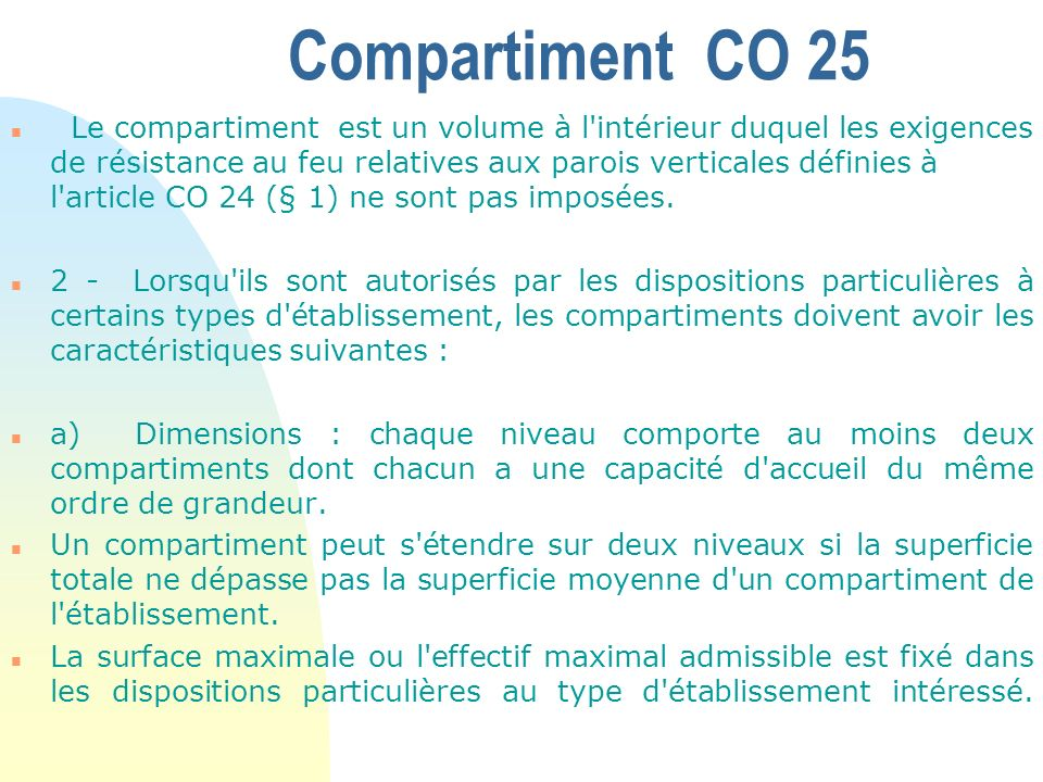 Compartiment CO 25