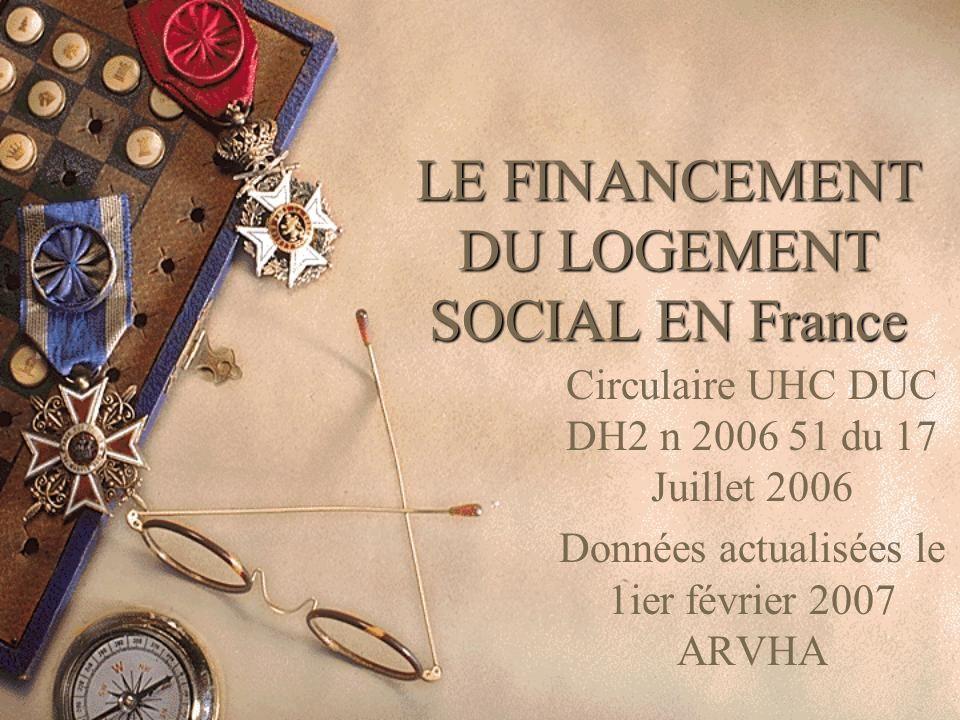 LE FINANCEMENT DU LOGEMENT SOCIAL EN France