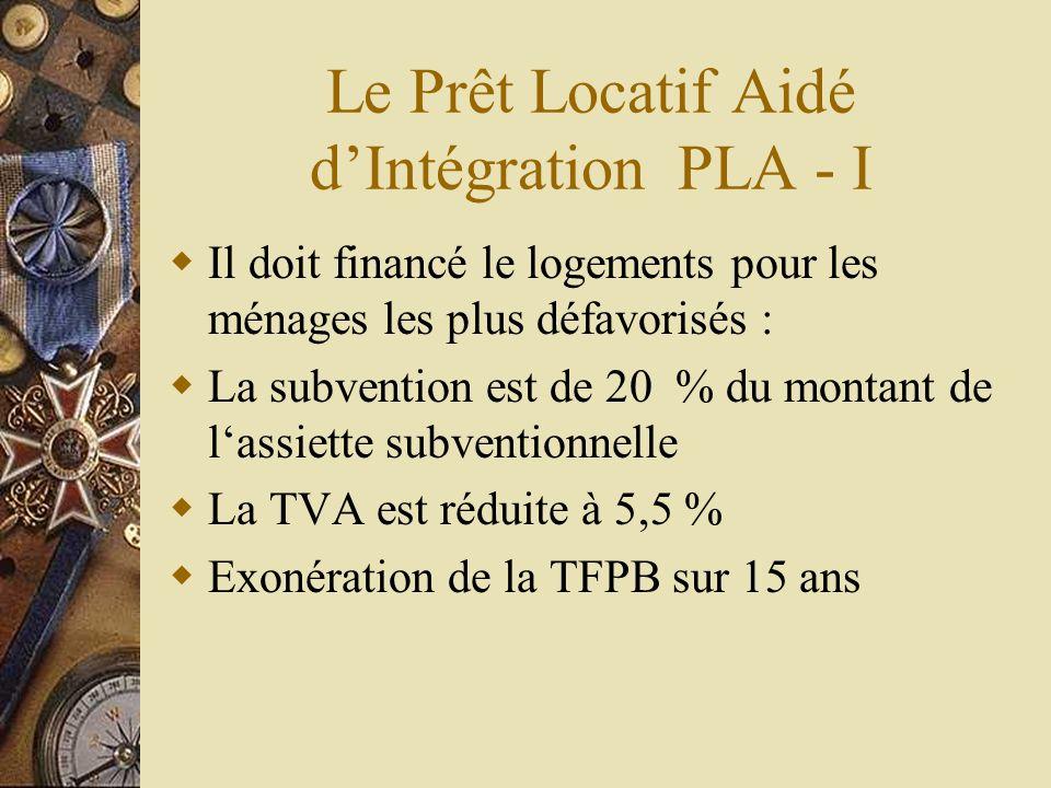 Le Prêt Locatif Aidé d'Intégration PLA - I