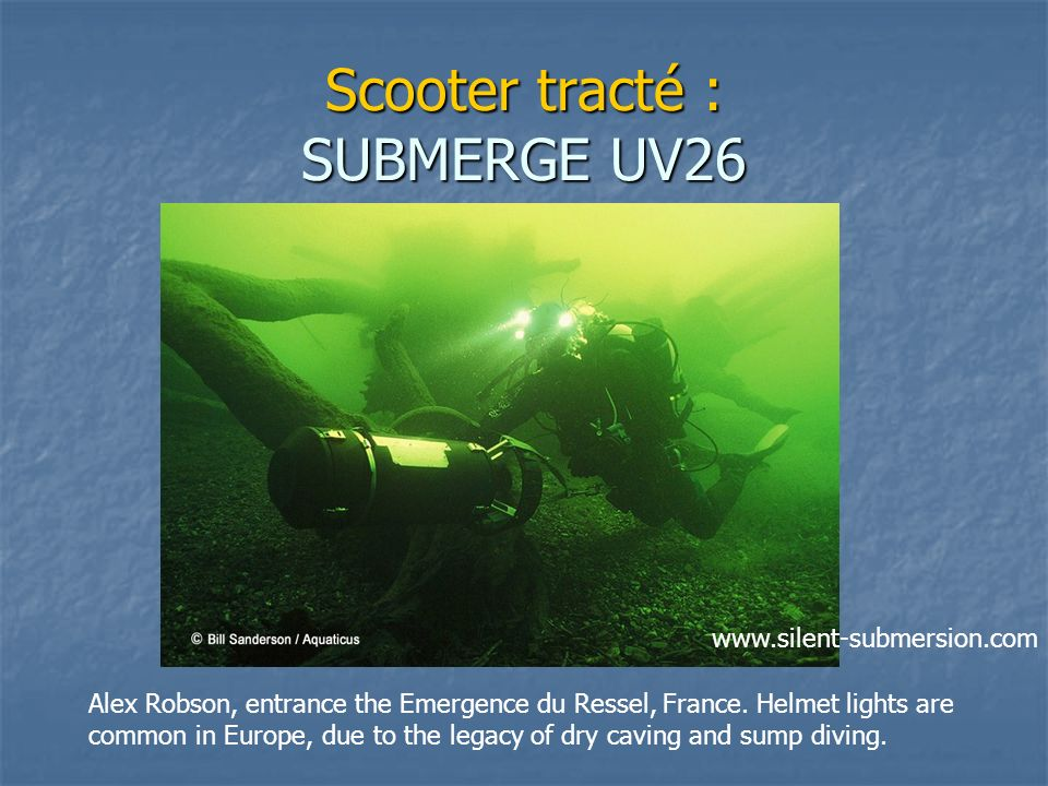 Scooter tracté : SUBMERGE UV26
