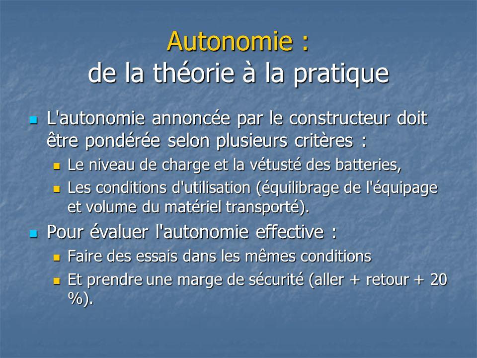 Autonomie : de la théorie à la pratique
