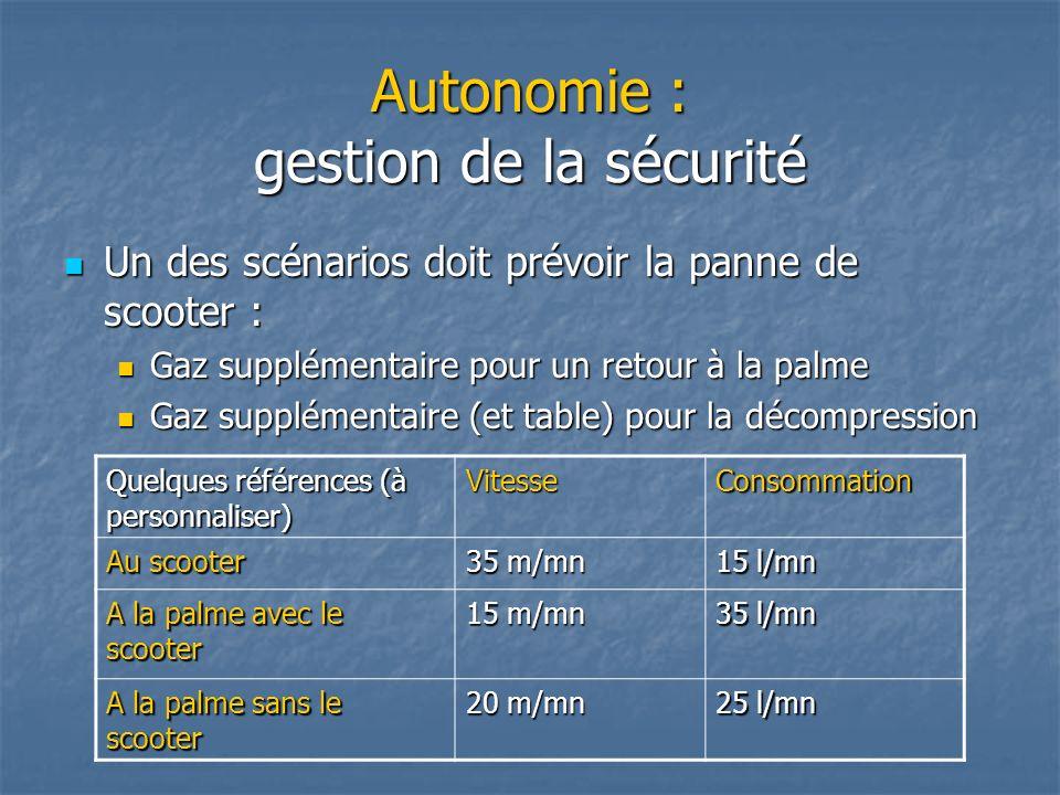 Autonomie : gestion de la sécurité