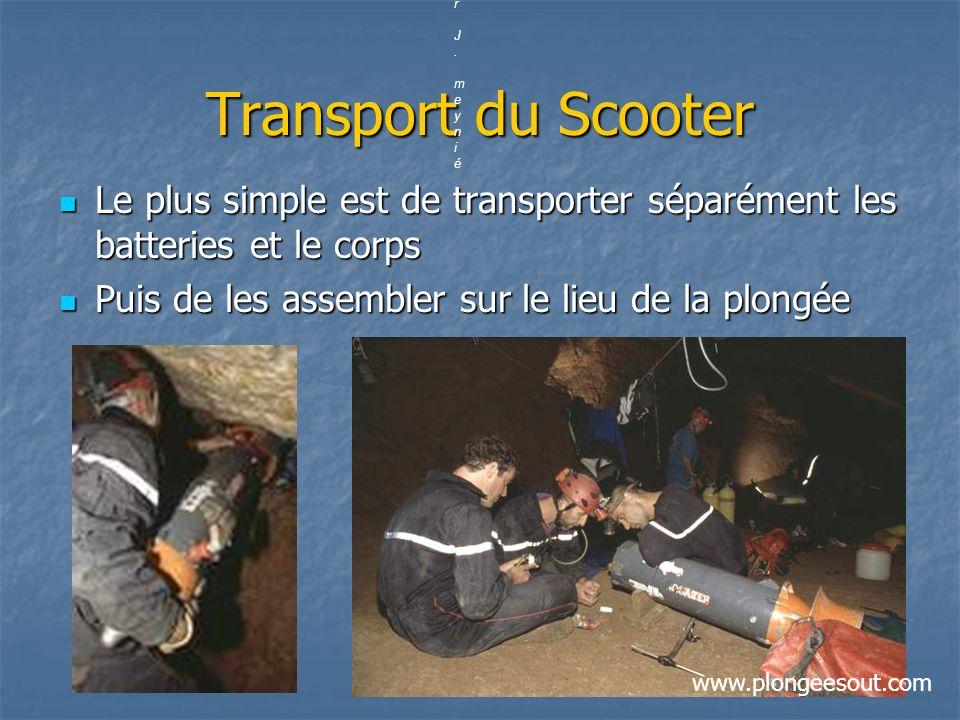 par J. meynié Transport du Scooter. Le plus simple est de transporter séparément les batteries et le corps.