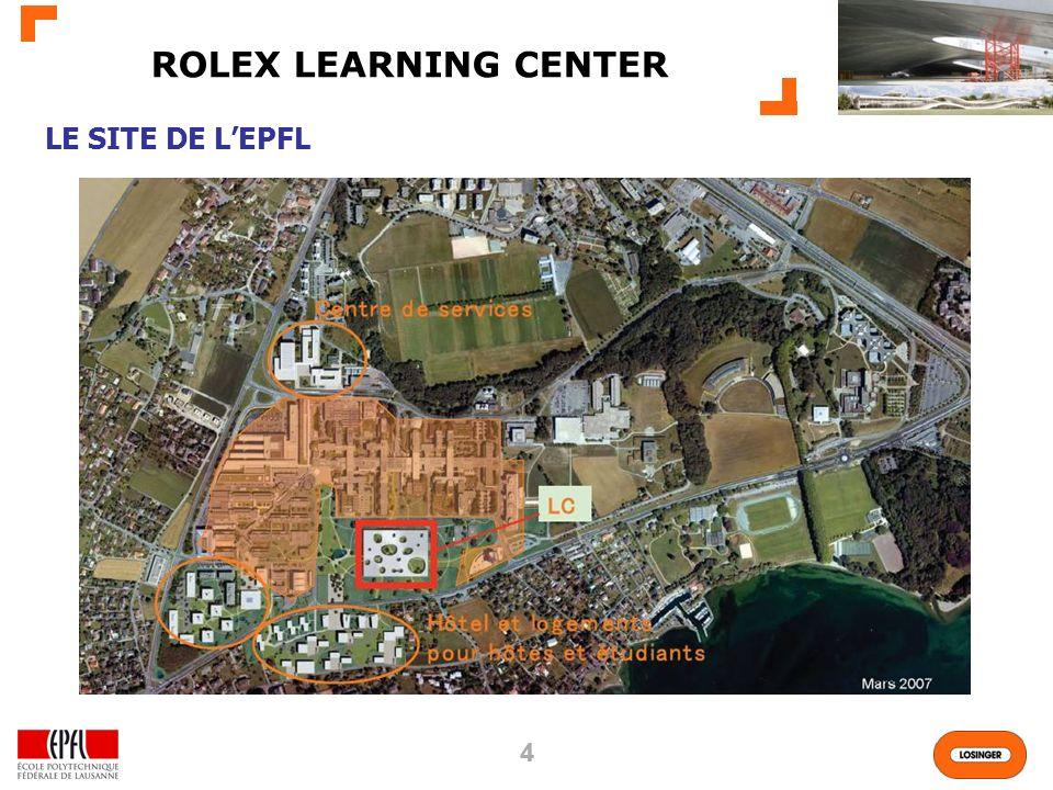ROLEX LEARNING CENTER LE SITE DE L'EPFL