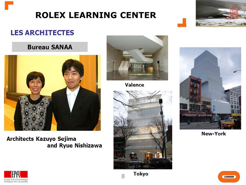 ROLEX LEARNING CENTER LES ARCHITECTES Bureau SANAA