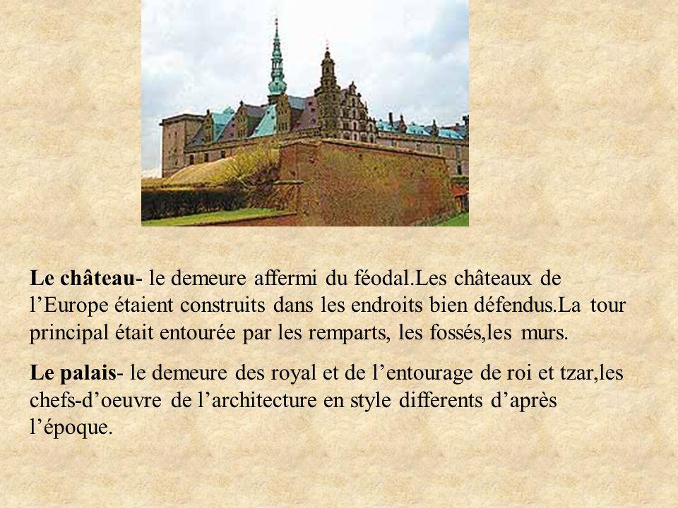 Le château- le demeure affermi du féodal