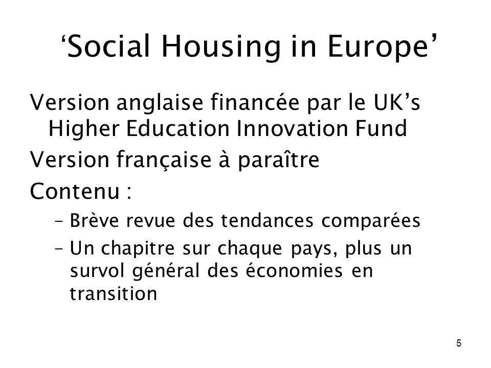 'Social Housing in Europe'