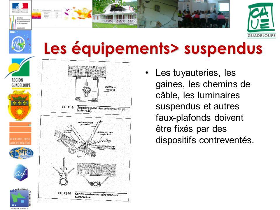 Les équipements> suspendus