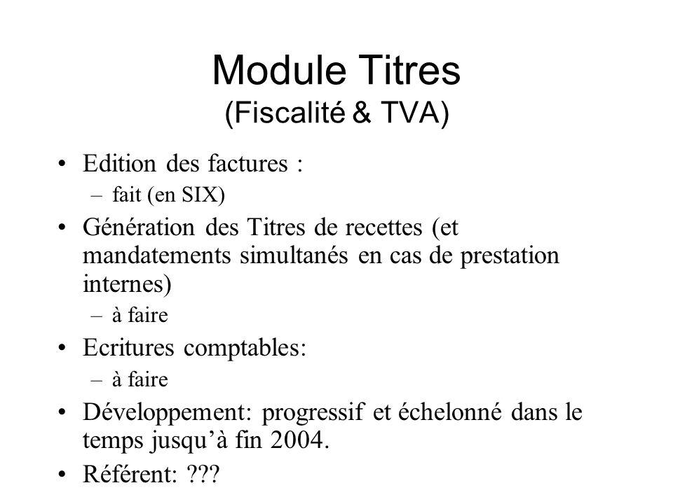 Module Titres (Fiscalité & TVA)