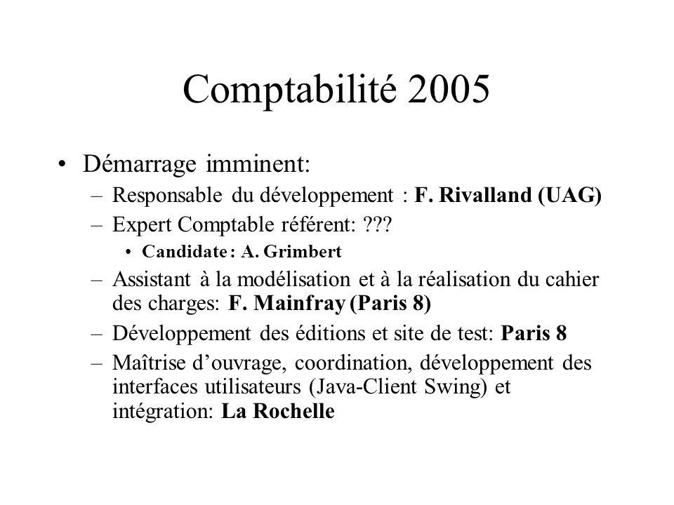 Comptabilité 2005 Démarrage imminent: