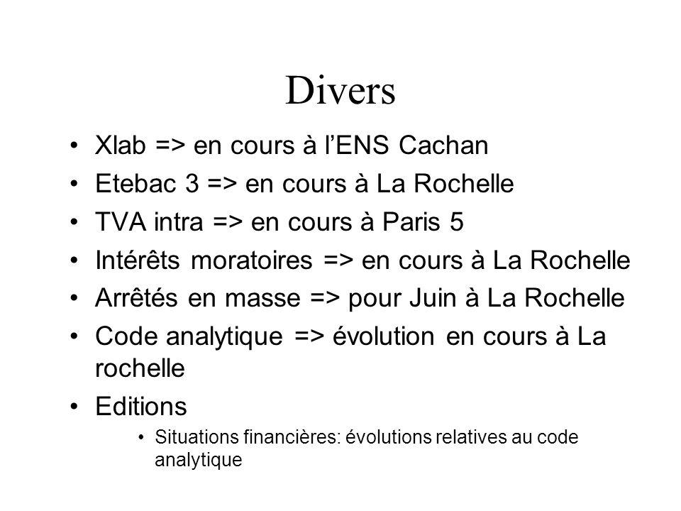 Divers Xlab => en cours à l'ENS Cachan
