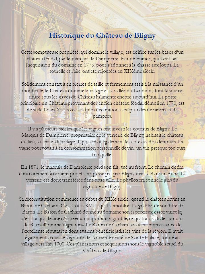 Historique du Château de Bligny