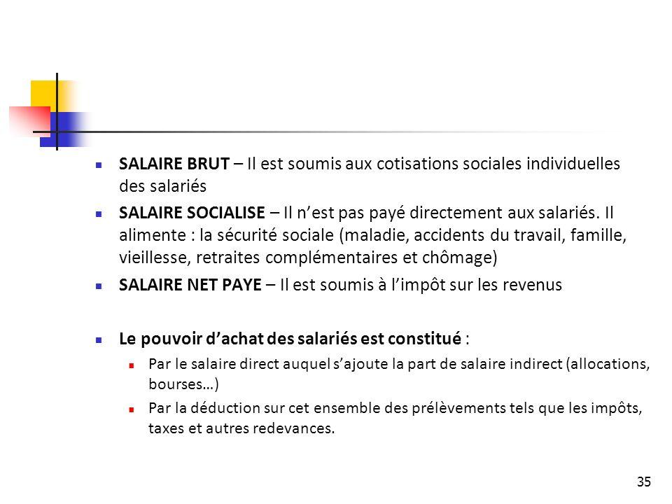 SALAIRE NET PAYE – Il est soumis à l'impôt sur les revenus