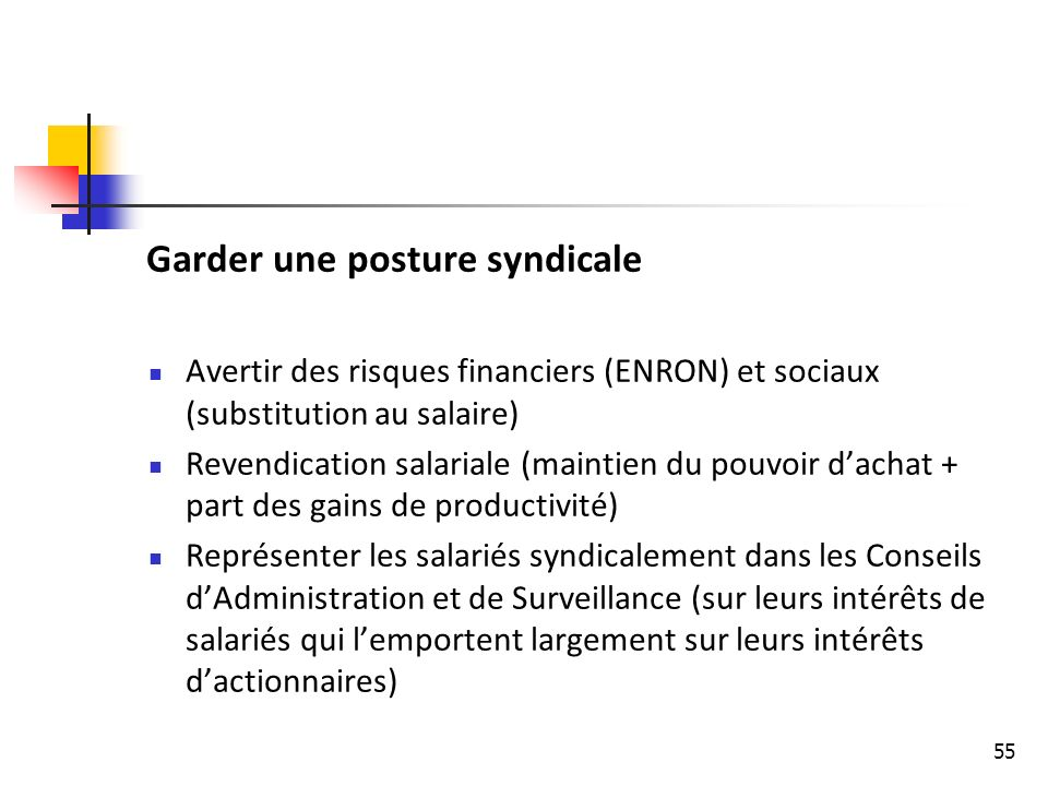 Garder une posture syndicale