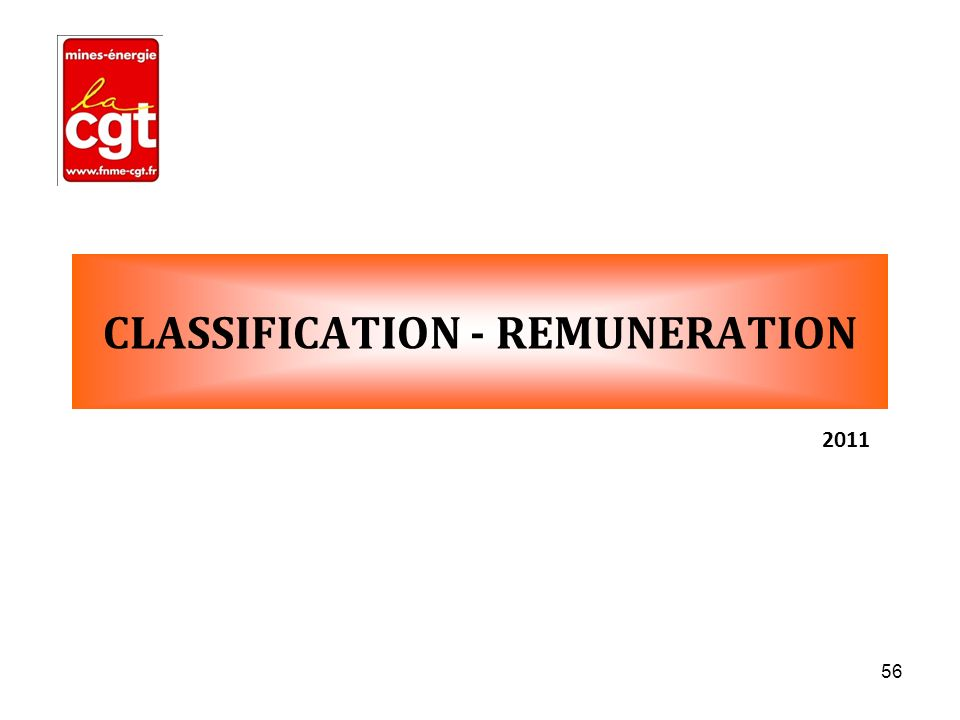 CLASSIFICATION - REMUNERATION