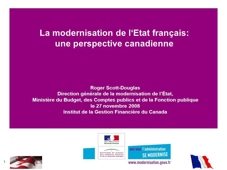 La modernisation de l'Etat français: une perspective canadienne