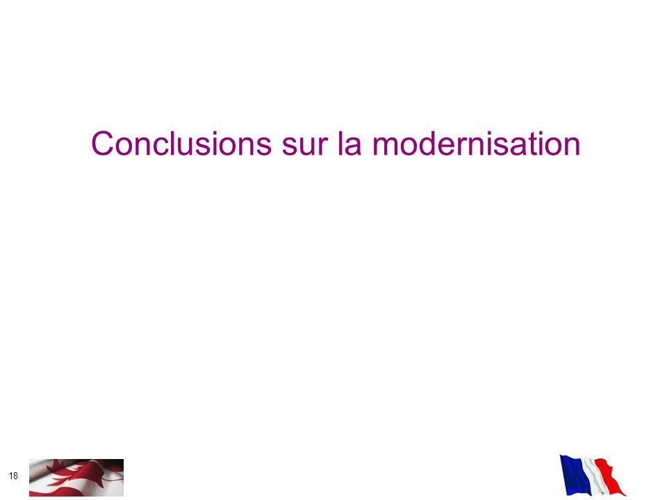 Conclusions sur la modernisation