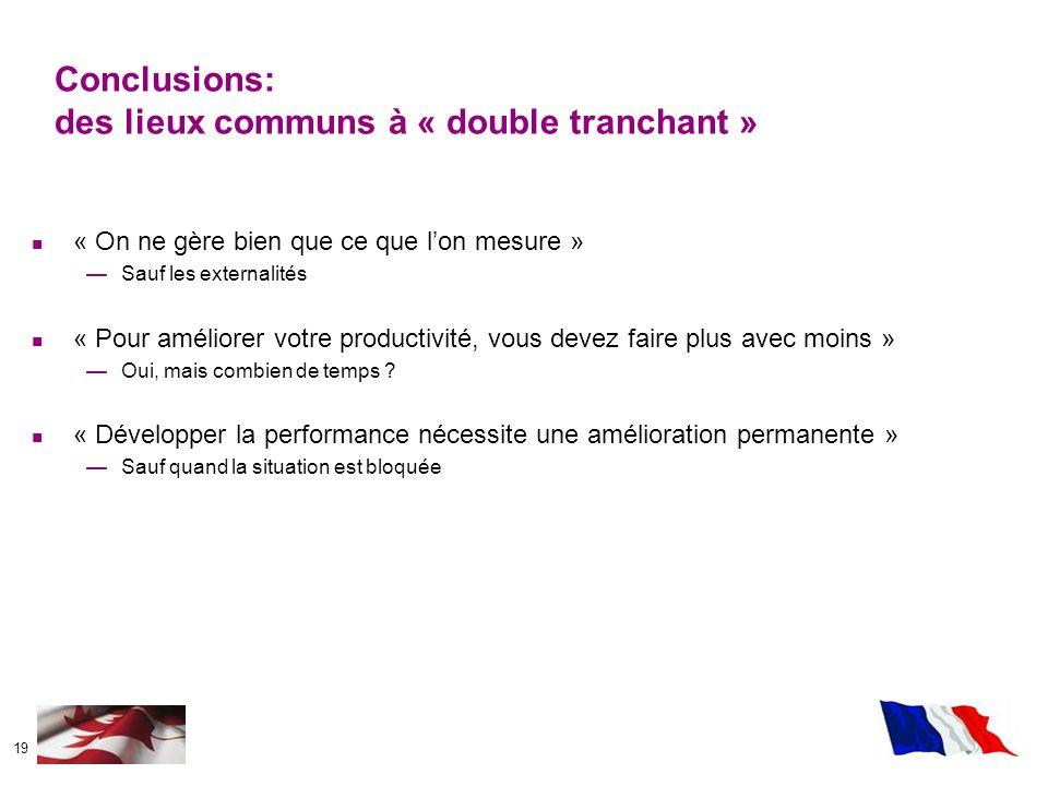 Conclusions: des lieux communs à « double tranchant »