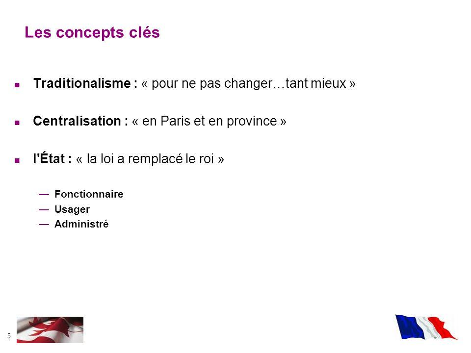 Les concepts clés Traditionalisme : « pour ne pas changer…tant mieux »