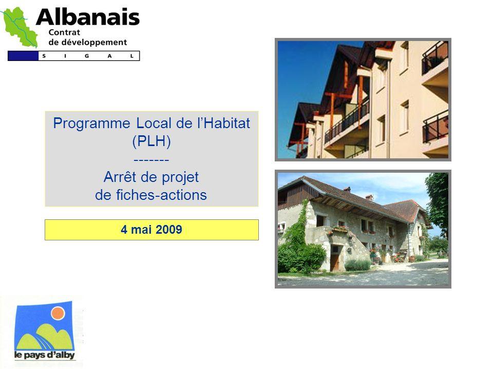 Programme Local de l'Habitat (PLH) ------- Arrêt de projet