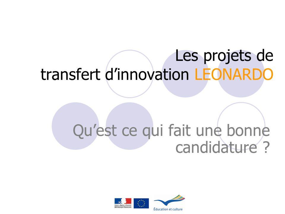 Les projets de transfert d'innovation LEONARDO