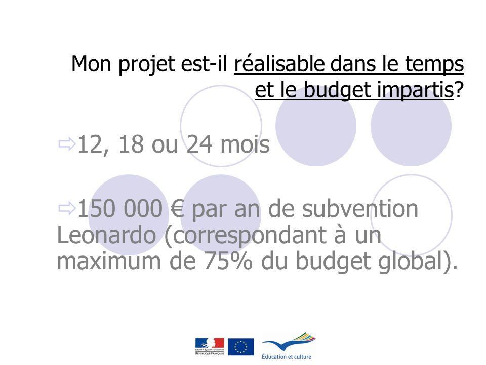 Mon projet est-il réalisable dans le temps et le budget impartis