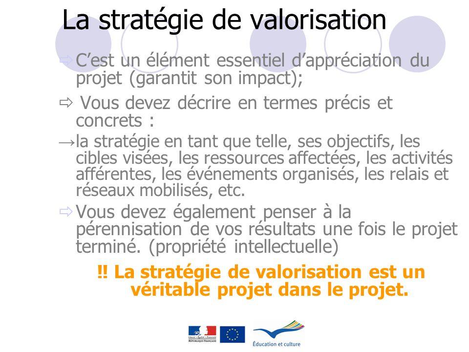 La stratégie de valorisation