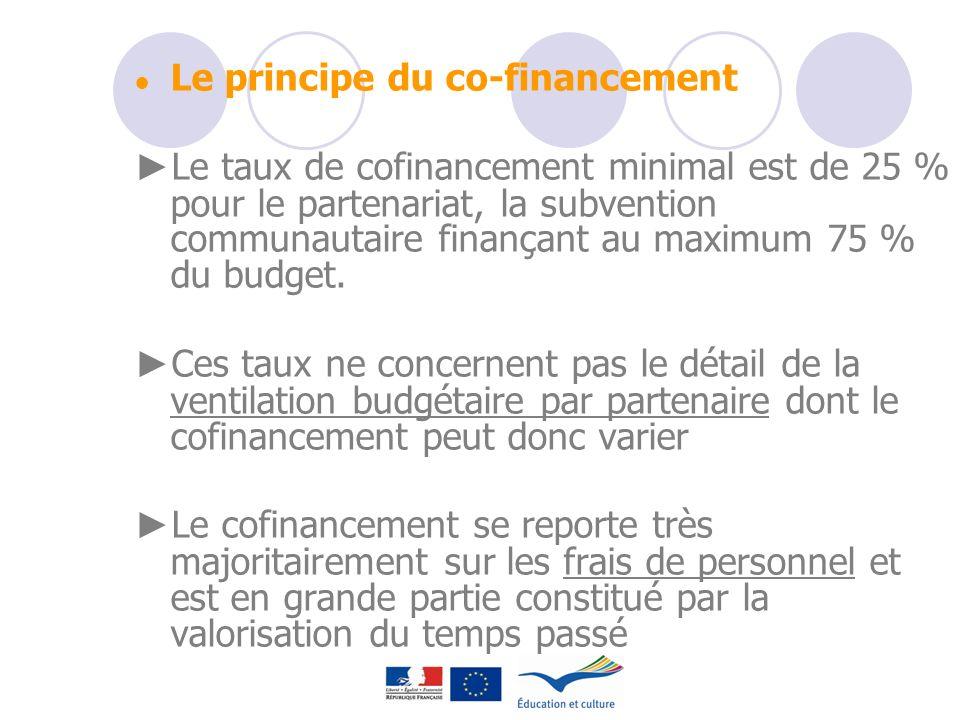 ● Le principe du co-financement