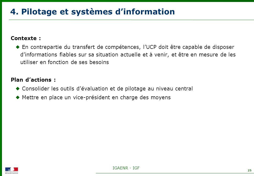 4. Pilotage et systèmes d'information