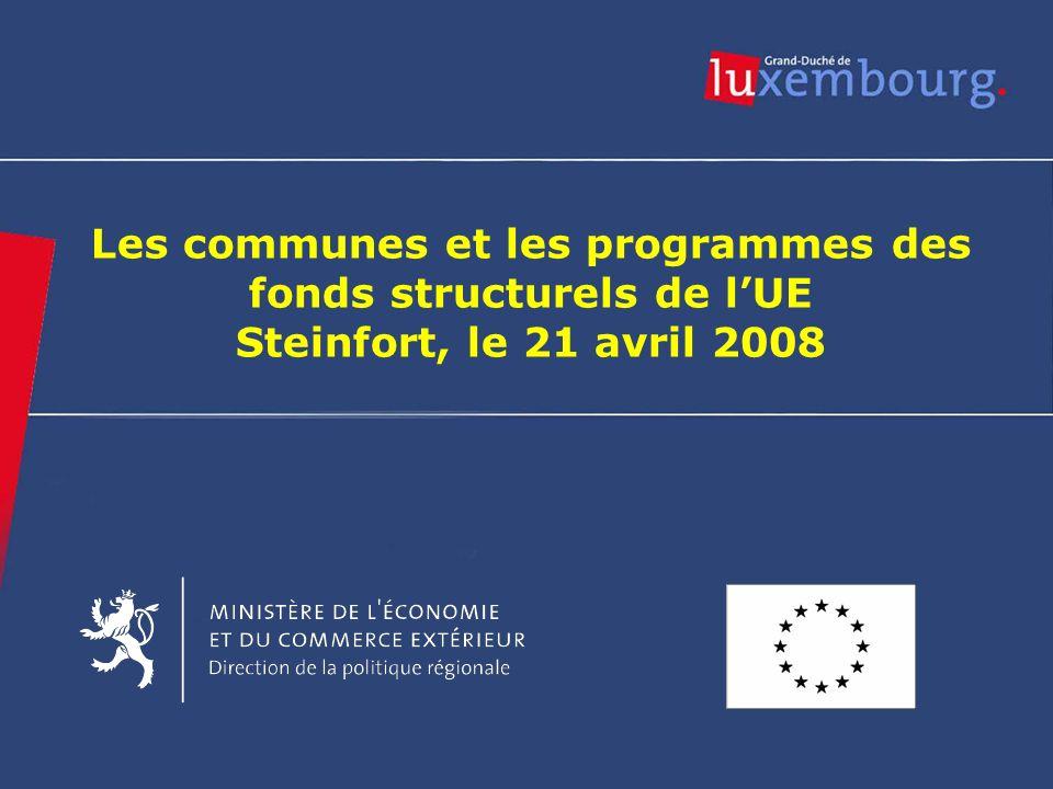 Les communes et les programmes des fonds structurels de l'UE