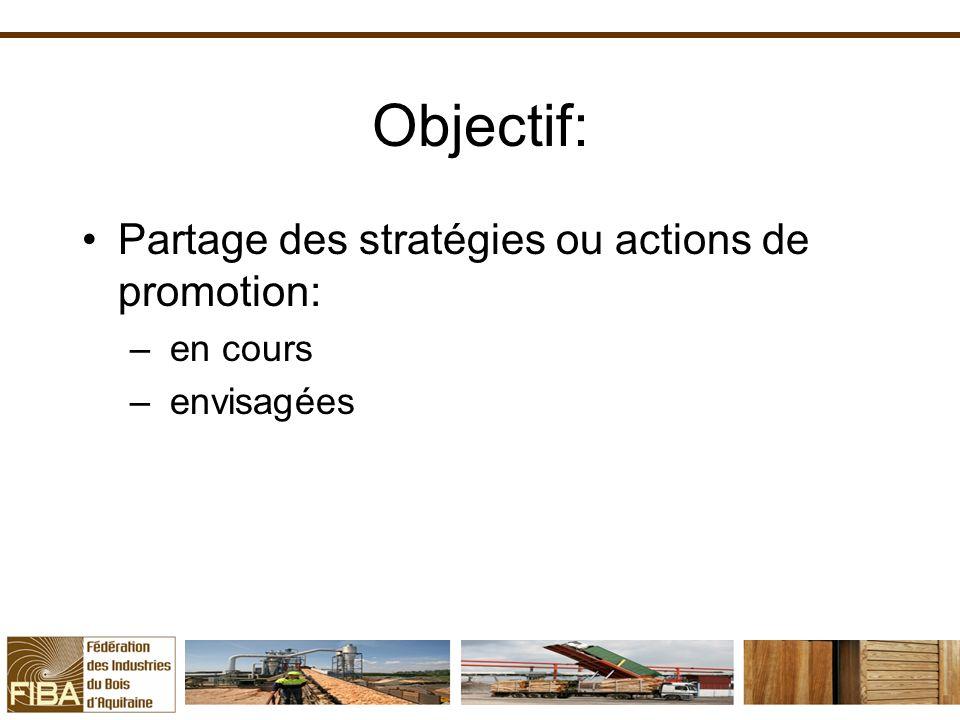 Objectif: Partage des stratégies ou actions de promotion: en cours