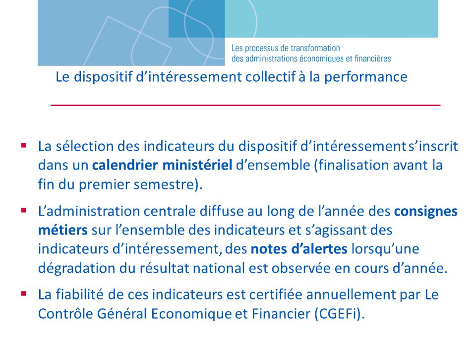 Le dispositif d'intéressement collectif à la performance