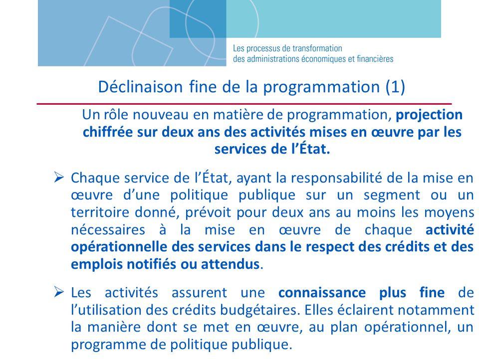 Déclinaison fine de la programmation (1)