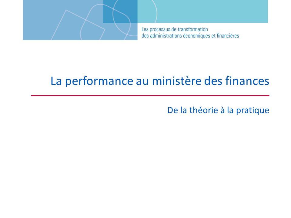 La performance au ministère des finances