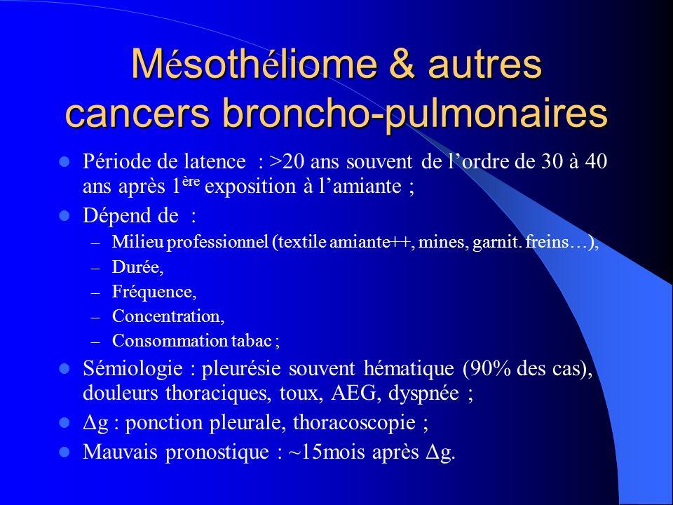 Mésothéliome & autres cancers broncho-pulmonaires